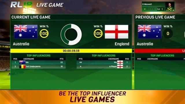 Rugby League 18 андроид