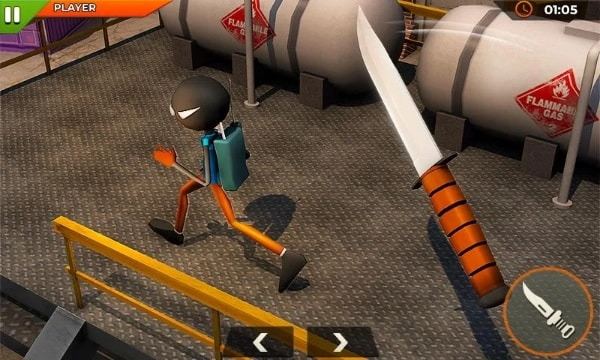 Stickman Knife Revenge андроид