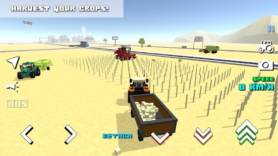 Blocky Farm Racing мод