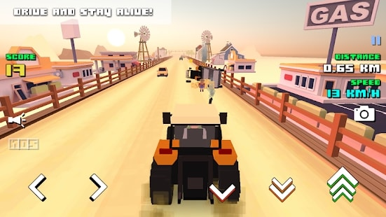Blocky Farm Racing скачать
