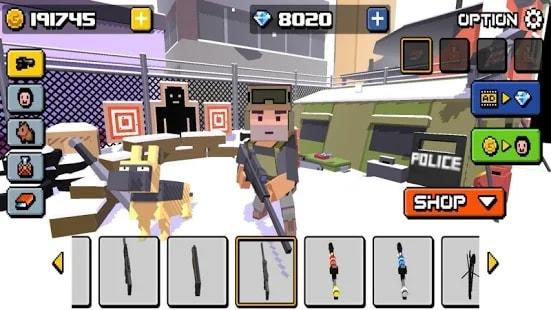 Cube Zombie Hunter андроид