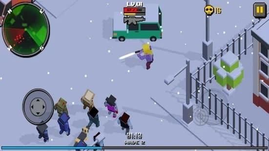 Cube Zombie Hunter мод