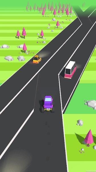 Traffic Run мод