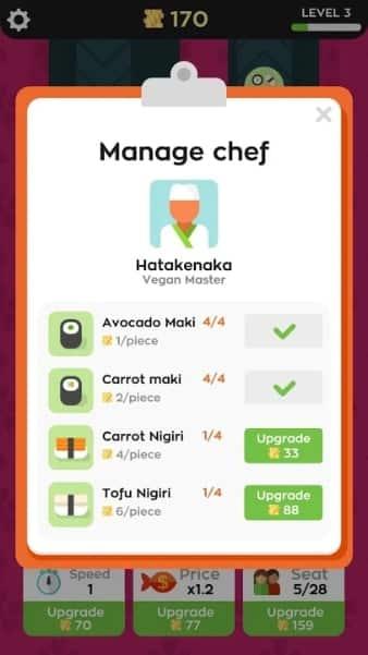 Sushi Bar читы