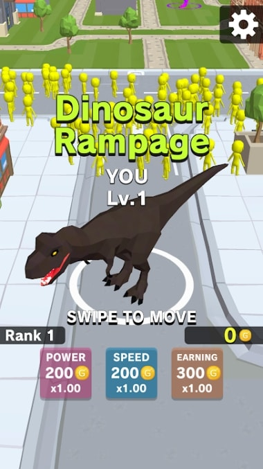 Dinosaur Rampage андроид