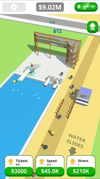Idle Tap Splash Park андроид