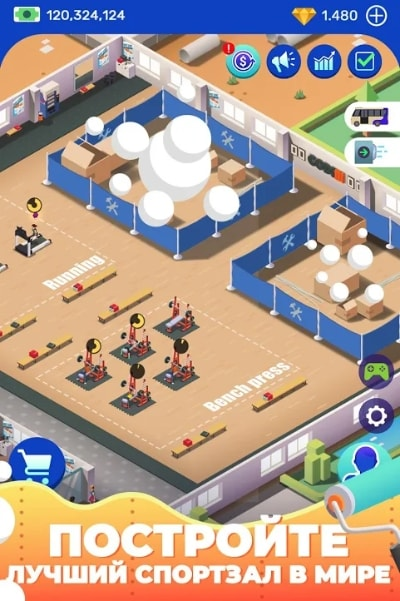 Idle Fitness Gym Tycoon мод