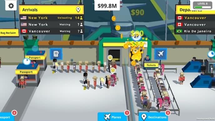 Idle Tap Airport андроид