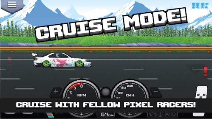 Pixel Car Racer мод