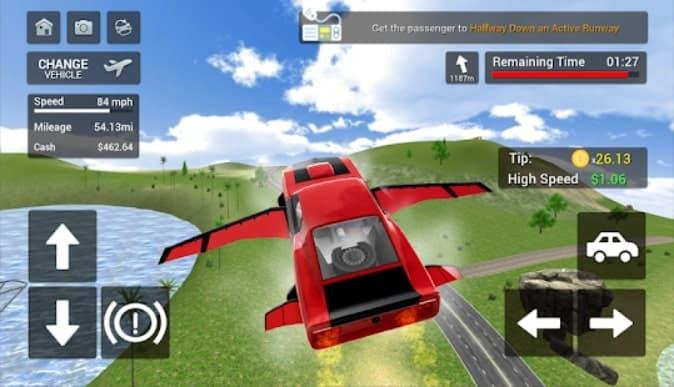 Flying Car Transport Simulator мод
