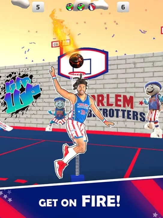 Harlem Globetrotter Basketball мод