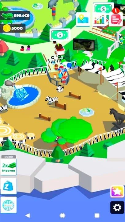 Idle Zoo Island андроид