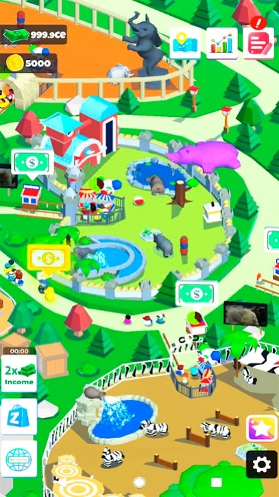 Idle Zoo Island скачать