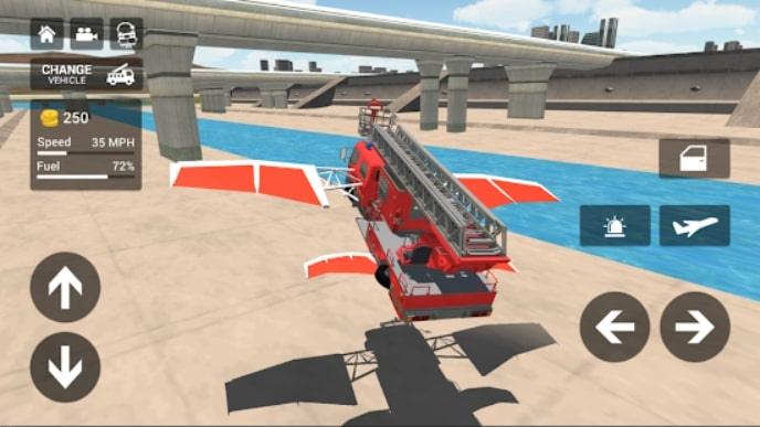 Fire Truck Flying Car читы