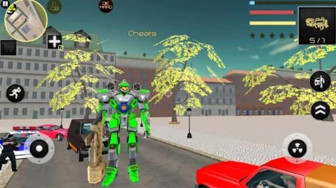 Dragon Robot Car Game андроид