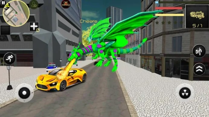 Dragon Robot Car Game скачать