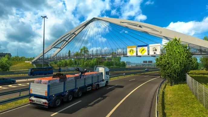 Euro Truck Parking Simulator 2021 мод