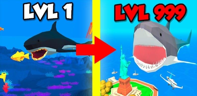 Idle Shark World андроид