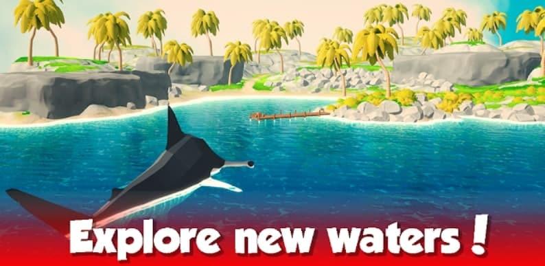 Idle Shark World мод