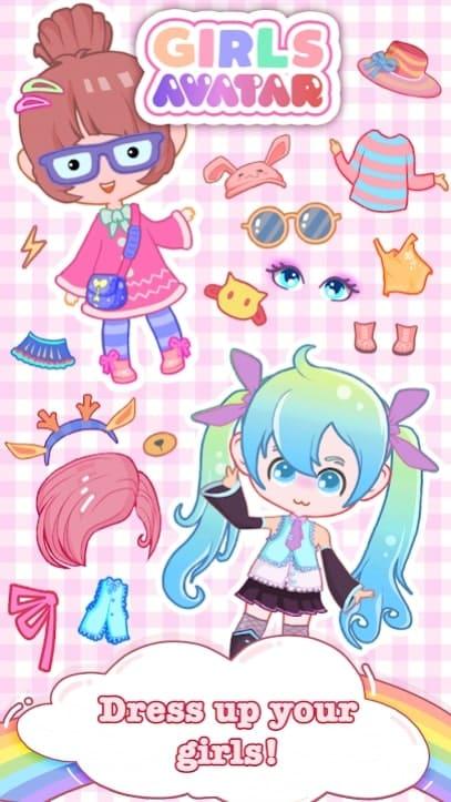 Girls Avatar мод