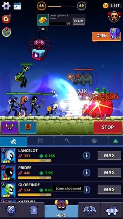 Idle Stickman Heroes: Monster Age андроид
