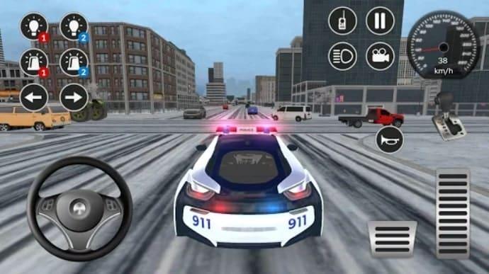 American i8 Police Car Game 3D андроид