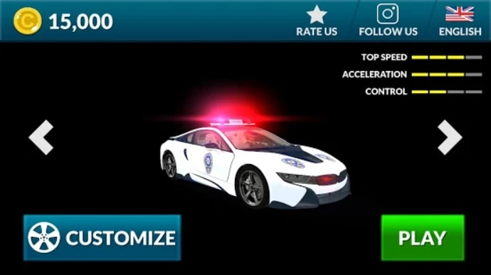 American i8 Police Car Game 3D мод