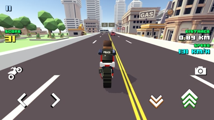 Blocky Moto Racing андроид