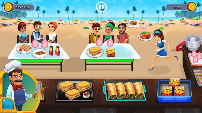 Cooking Cafe - Food Chef мод
