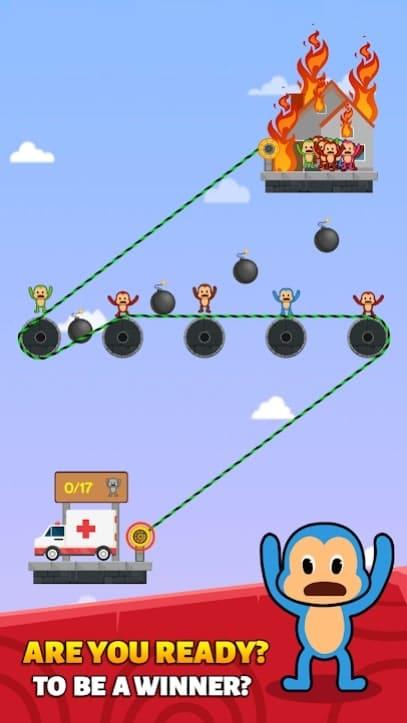 Monkey Rescue Puzzle андроид