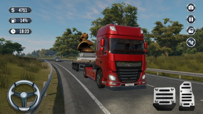 Truck Sim: Offroad Driver мод